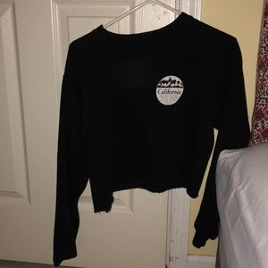 Brandy Melville cropped crew neck